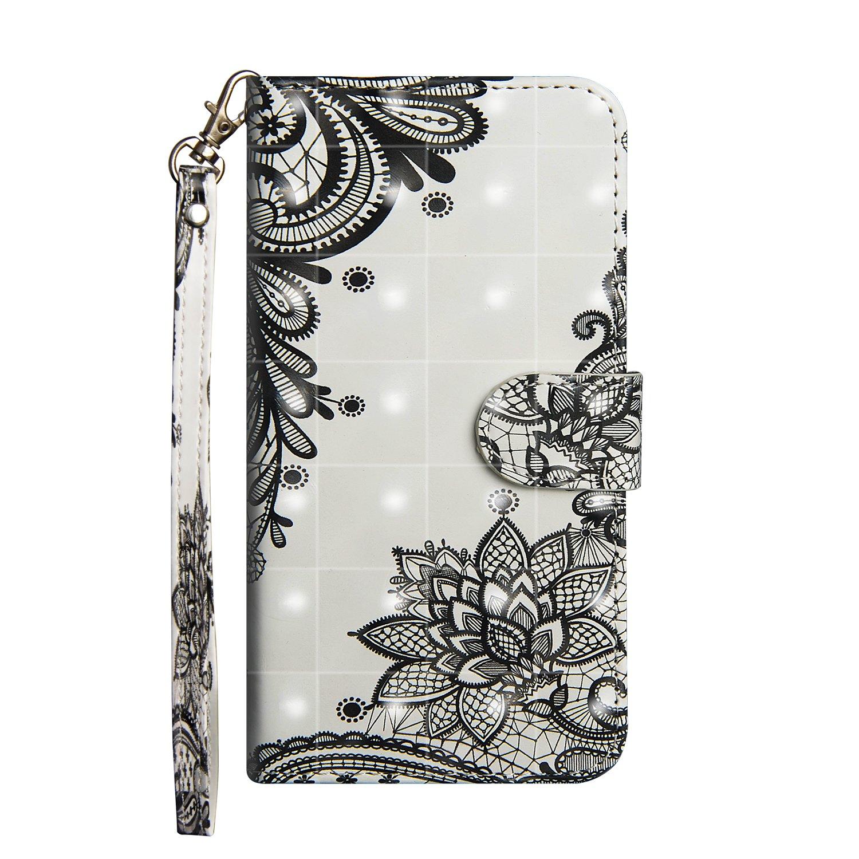 F/ür Lenovo P2 // P2C72 H/ülle Premium PU Leder Schutztasche Klappetui Brieftasche Handyh/ülle Wolf Standfunktion Flip Wallet Case Cover