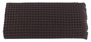 Arvec Turkish Waffle Weave Bath Sheet Towel Bamboo Turkish Cotton Blend Ultra Soft Turkish Bath Towel 35 X 70 Brown