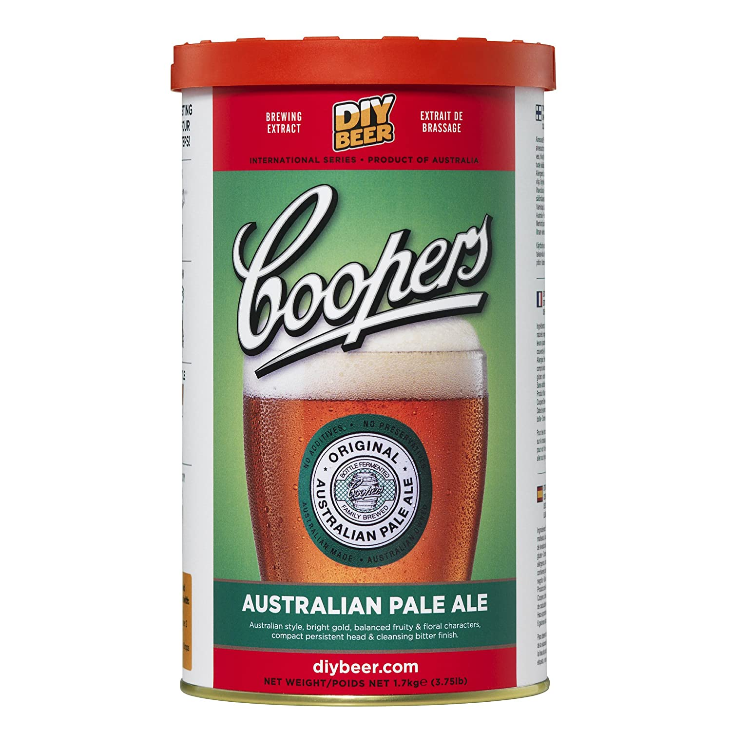 7ba7b0426b3 Amazon.com  Coopers DIY Beer Australian Pale Ale Homebrewing Craft Beer  Brewing Extract  Beer Brewing Malt Extracts  Kitchen   Dining