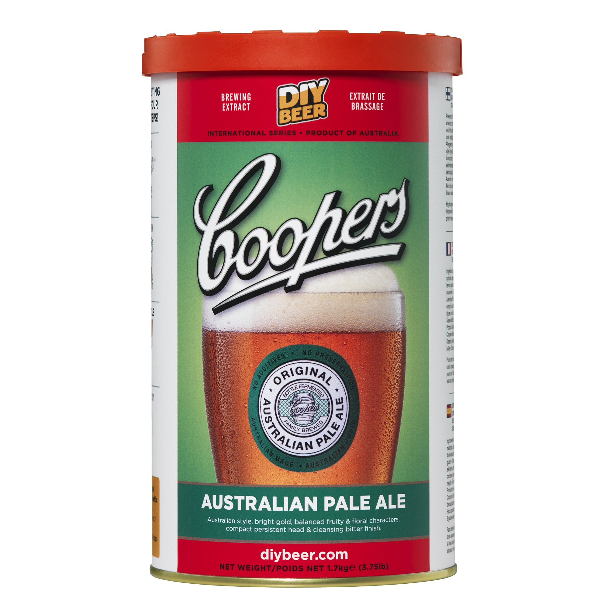 Coopers DIY Beer Australian Pale Ale Homebrewing Craft Beer Brewing Extract