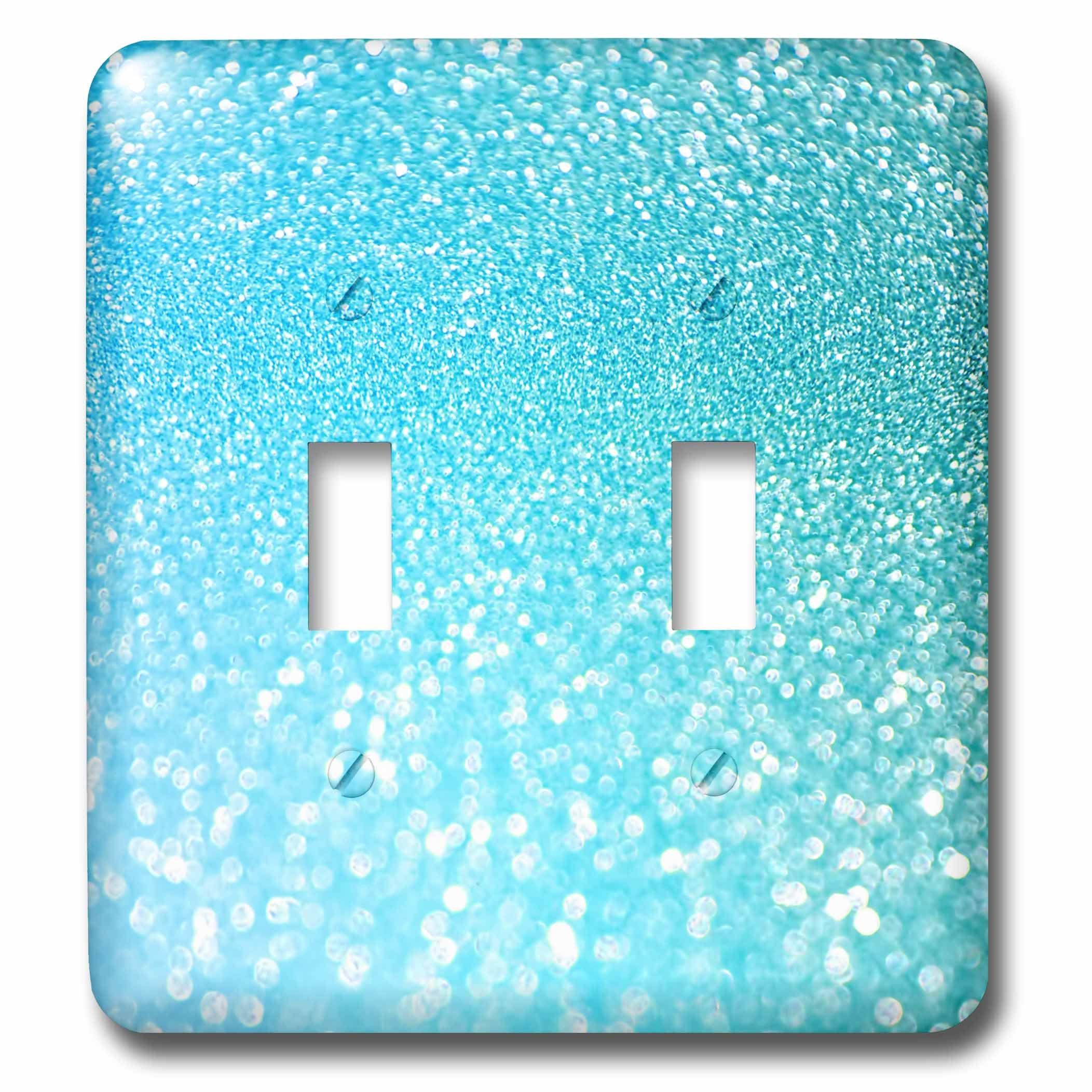3dRose lsp_266999_2 Sparkling Light Teal Luxury Elegant Mermaid Glitter Effect Art Print Toggle Switch, Mixed