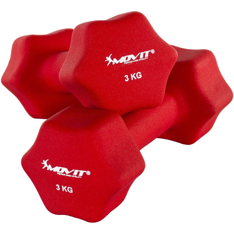 Movit Par de Mancuernas Recubiertos de Neopreno mancuerna de una Mano Pesas de 2 x 0, 5 kg Rosa 20040390