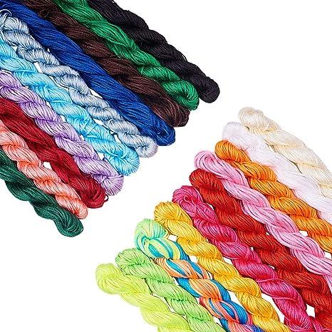 1.5mm Bead Cord,Superlon Bead Cord Knotting Cord,Jewelry making cord,orange colored cord