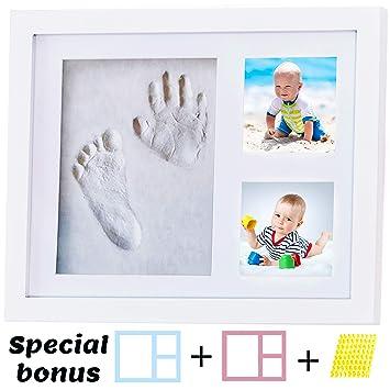 Baby Hand Foot Print Impression Ink Kit Shadow Frame /& Black Ink Keepsake Gift !