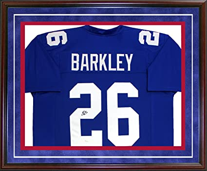 size 40 008ee da026 Saquon Barkley Autographed Framed New York Giants Jersey ...