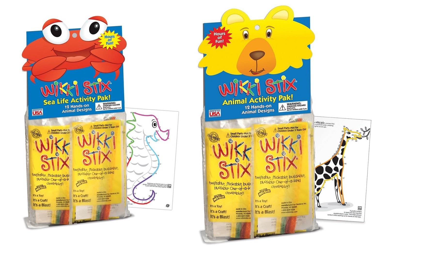 WikkiStix Animal & Sea Life Activity Pak Bundle