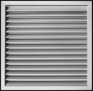 """14""""w X 14""""h Aluminum Privacy Door HVAC Air Grille -""""V"""" Shaped Louvers Ensure 100% View Block - Supply or Return [Outer Dimensions: 15""""w X 15""""h]"""