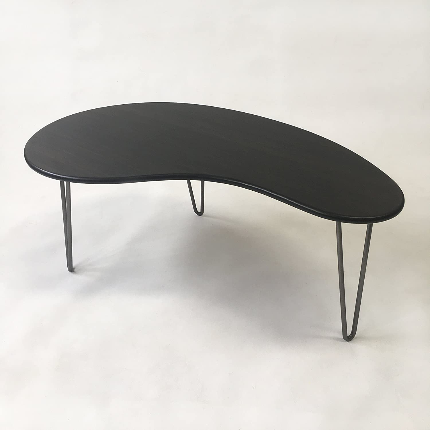 - Amazon.com: Black Mid Century Modern Coffee Table - Kidney Bean