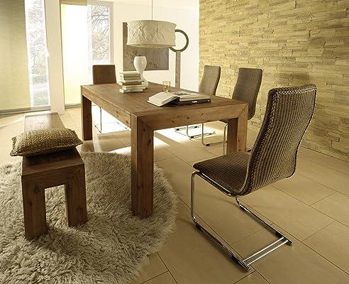 Esstisch Designer Tisch Esszimmertisch Massivholz Massiv 160 X 90