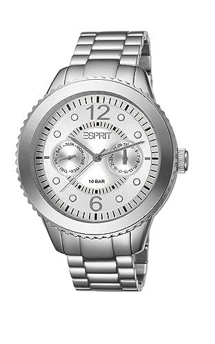 Esprit ES105802002 - Reloj analógico de Cuarzo para Mujer, Correa de Otros Materiales Color Plateado: Amazon.es: Relojes