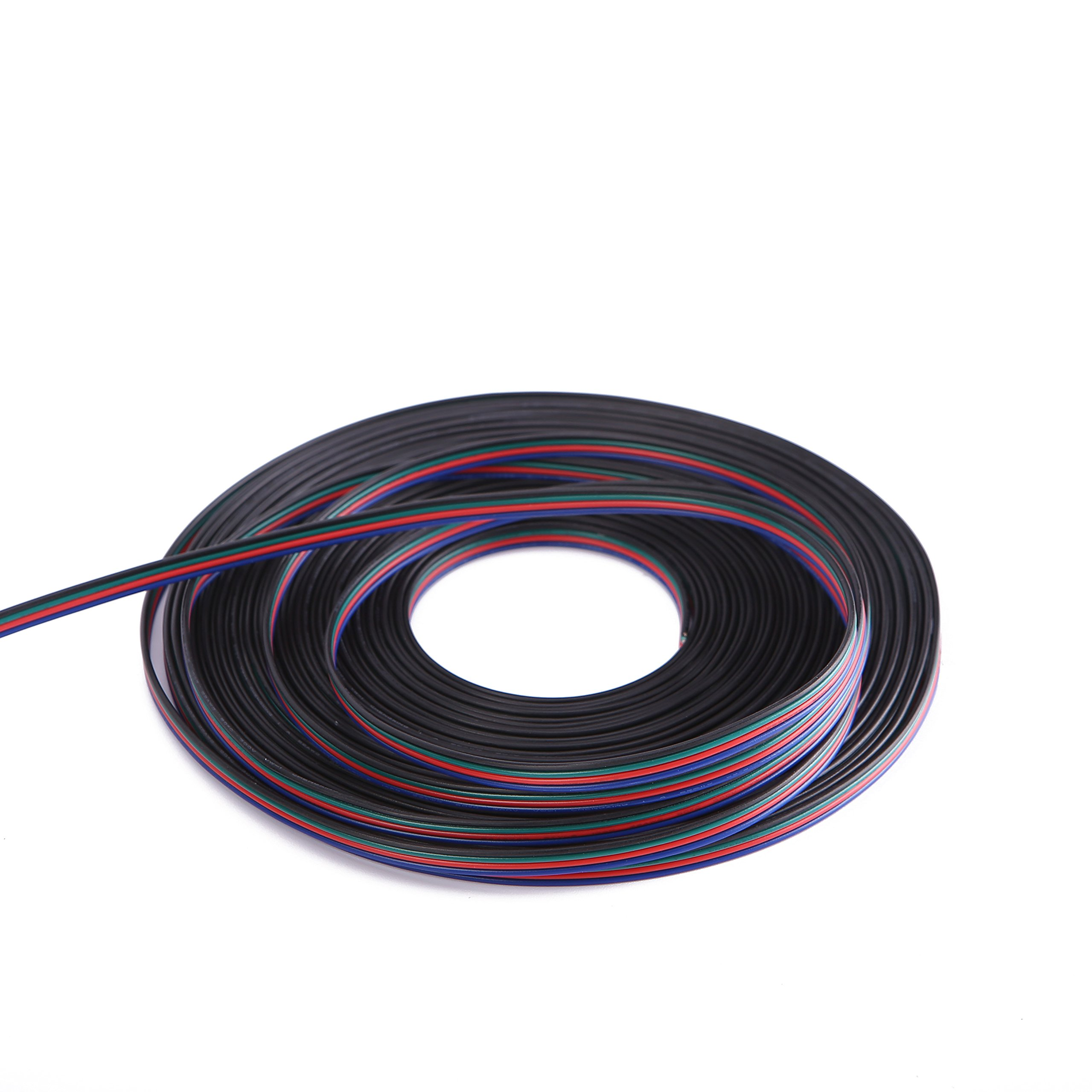 C-able 100ft(30.5m) 22 AWG 4Pin RGB Wire Extension Cable with Spool, Led Lights Wires Strip Extend Wire for 5050 3528, with 8PCS RGB Led Strip Connectors by C-able (Image #5)