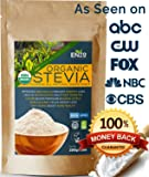Premium Organic Stevia Powder 200g (7.05oz / 1600 Servings) USDA Certified All Natural Alternative Sweetener 120x Sweeter than Sugar No Artificial additives & fillers ingredients