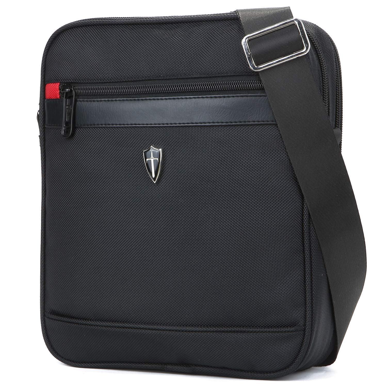 Victoriatourist V7002 Vertical Shoulder Messenger Bag for iPad/Tablet Upto 10.1'', Black