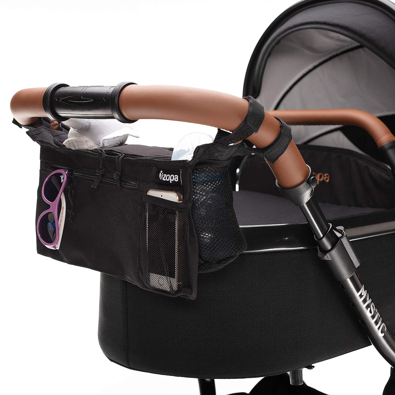 ZOPA Kinderwagen-Organizer - Universale Kinderwagentasche (Black)