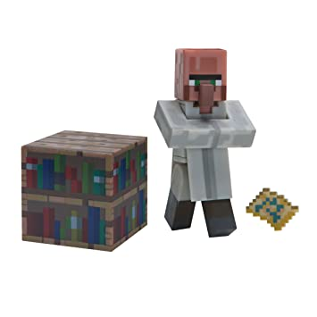 Amazon Com Minecraft Villager Librarian Figure Pack Toys Games
