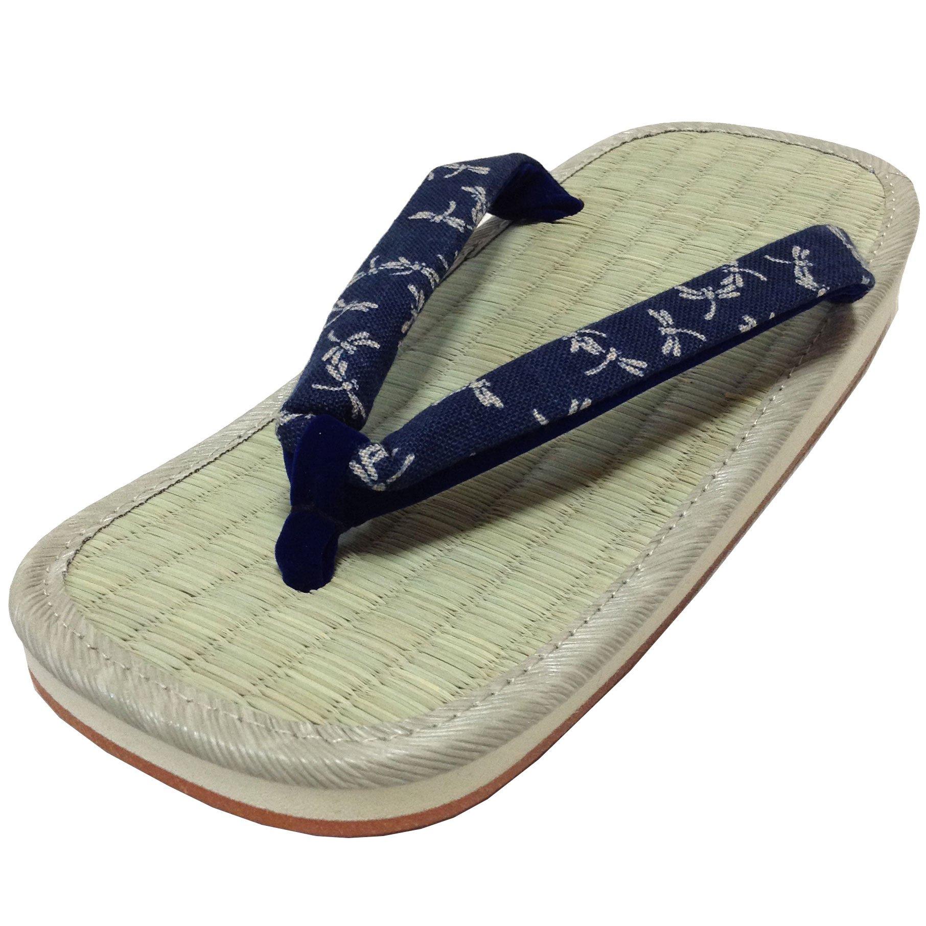 Edoten Made in Japan Setta Sandals.Rush Grass Amezoko Rubber Sole. Small Dragonfly 07. SizeXL