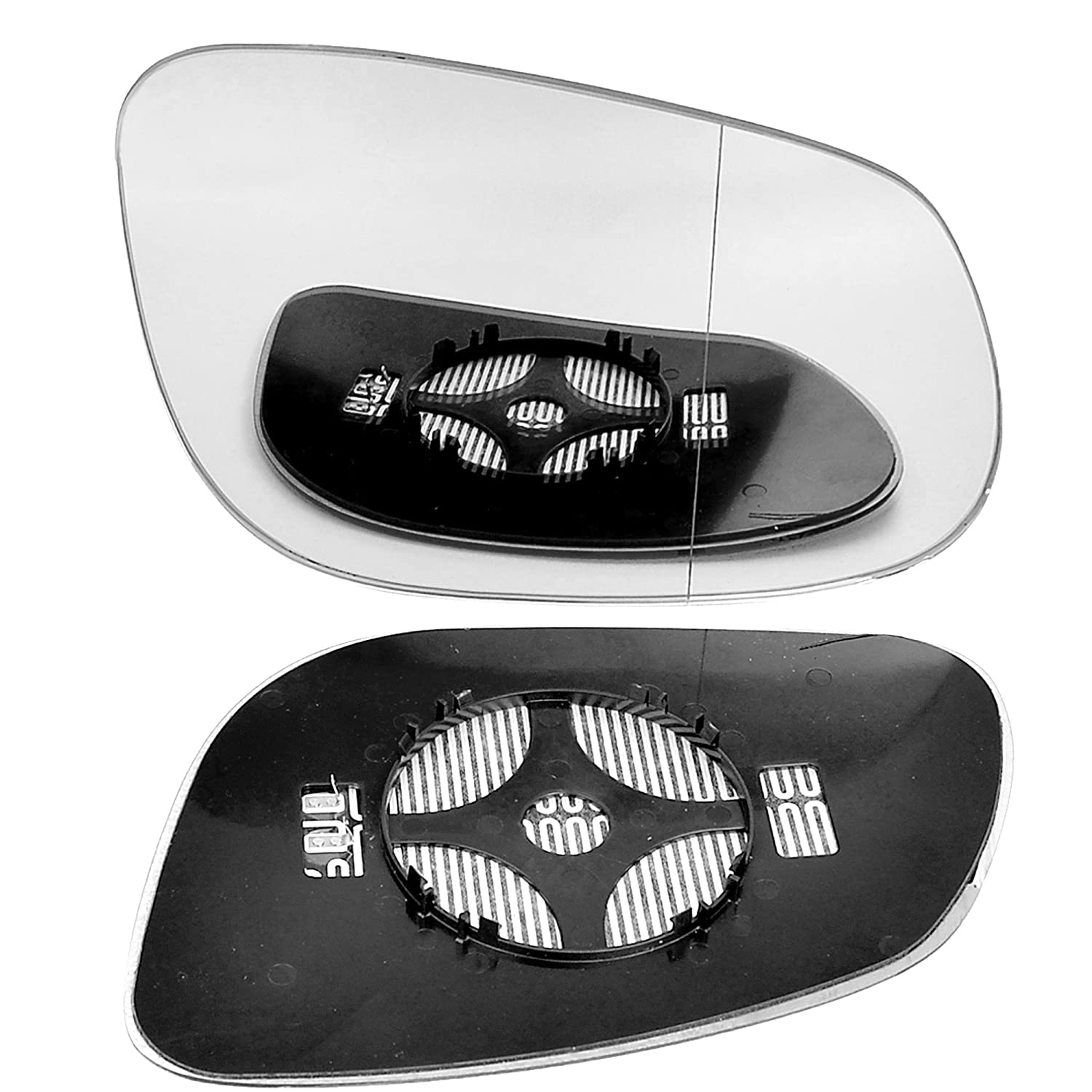 Right driver side wing door clip on mirror glass for Porshe Cayenne 2002-2006 Wide Angle Heated