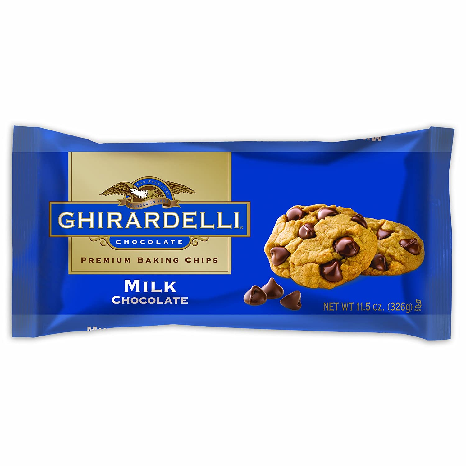 Amazon.com : Ghirardelli Chocolate Baking Chips, Milk Chocolate ...