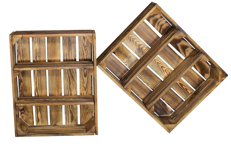 Juego de 2Estantería Caja Plano con 3compartimentos gefla MMT 50x 40, 5x 16cm Vintage Möbel 24 GmbH