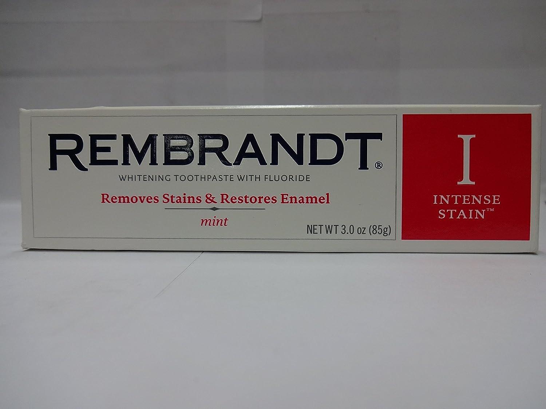 Rembrandt フッ化物、ミント3オズ(6パック)との激しいステインホワイトニングハミガキ B018QZFYOC