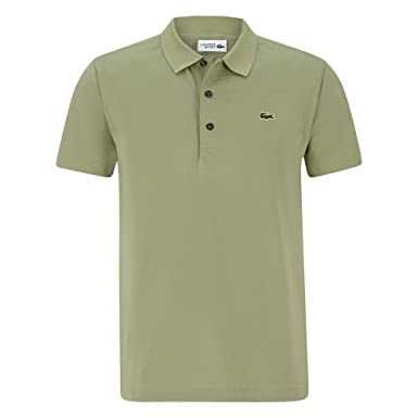 33b0c6b093 Lacoste YH4801 Homme Polo Manches Courtes Manches Courtes,Monsieur Polo,3  Boutons,Taille