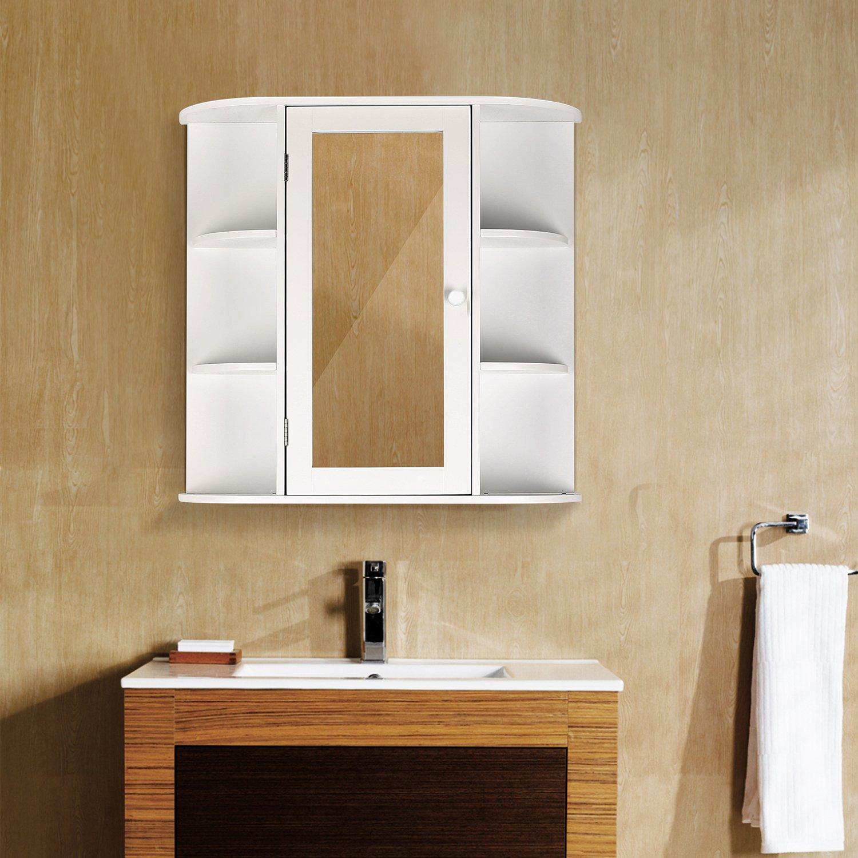 Wall Mount Bathroom Cabinet Storage Organizer Medicine