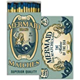 Mermaid Brand Match Box with Wooden Matches