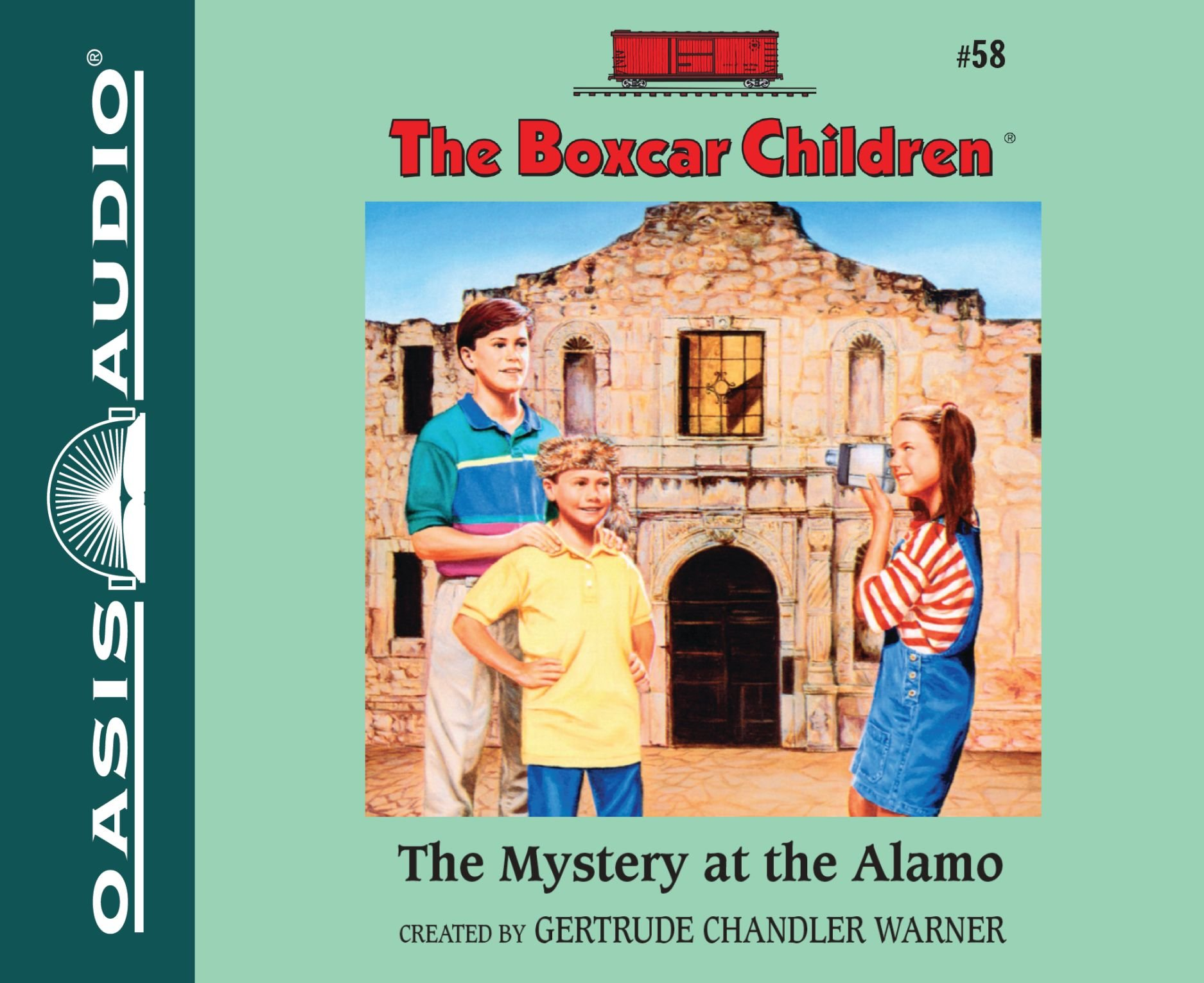 The Mystery at the Alamo (Library Edition) (The Boxcar Children Mysteries) by Oasis Audio (Image #1)