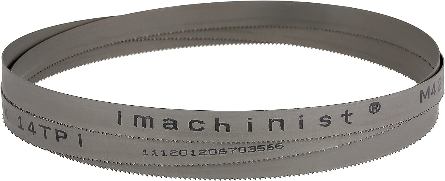 8//12TPI Imachinist 70-1//2 Long 1//2 Wide 0.025 Thick M42 Bi-metal Bandsaw Blades for Soft Metal Cutting