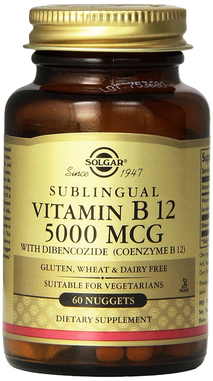 Amazon.com: Solgar - Vitamin B12, 5000 mcg, 60 Nuggets: Health & Personal Care