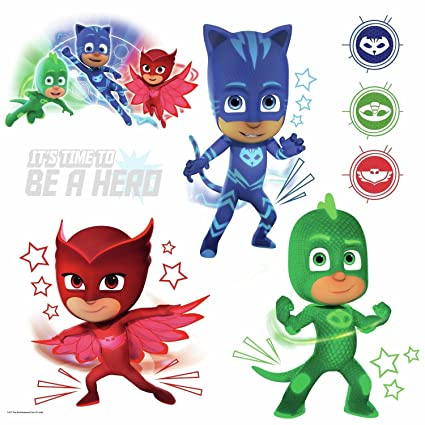 PJ Masks Peel and Stick Wall Decals with Glow-in-the-Dark Elements