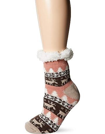 30a95165720c4 MUK LUKS Women's 1-Pair Fluffy Cabin Socks