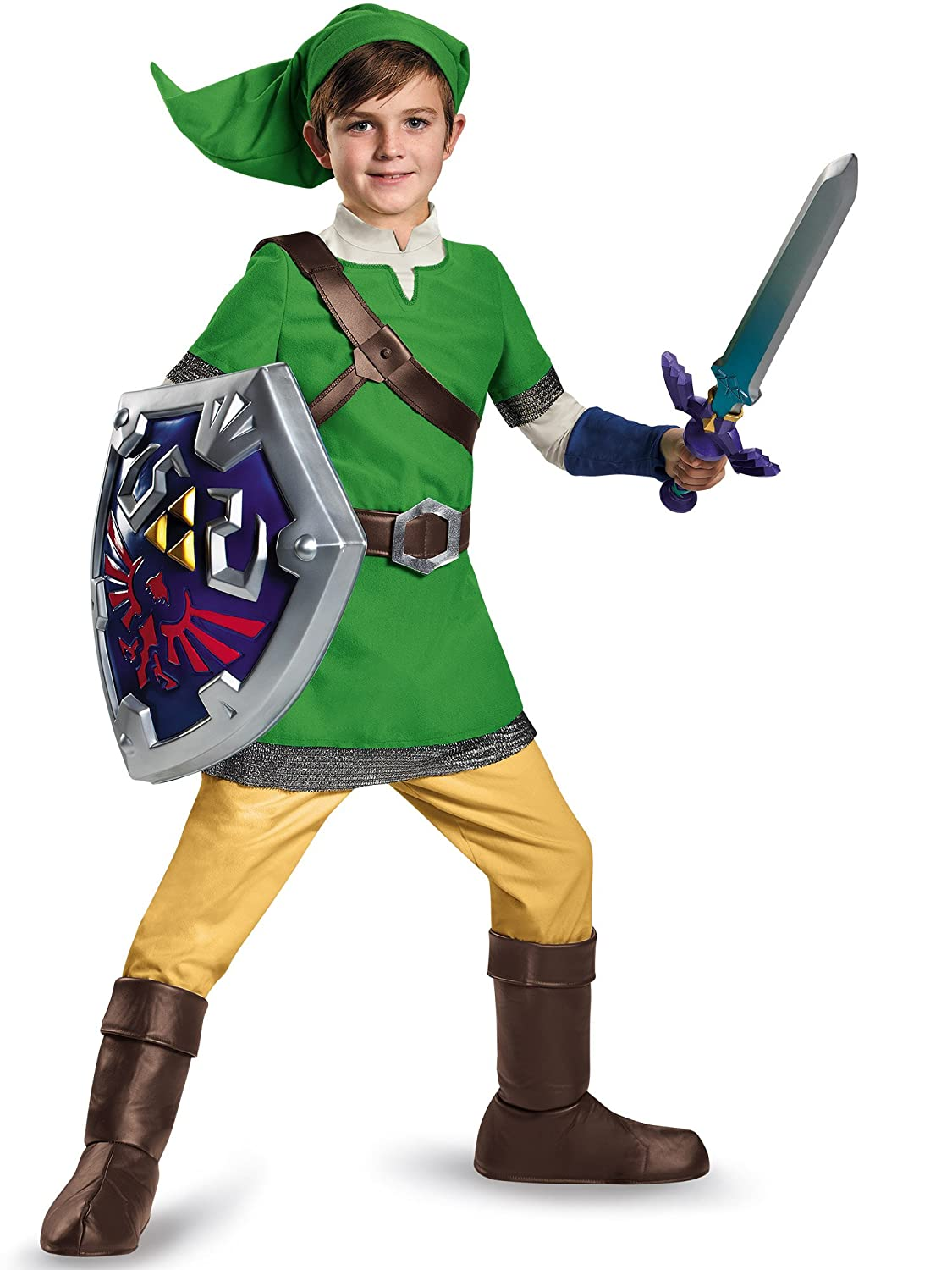 Amazon.com Disguise Link Deluxe Child Costume Large (10-12) Disguise Toys u0026 Games  sc 1 st  Amazon.com & Amazon.com: Disguise Link Deluxe Child Costume Large (10-12 ...