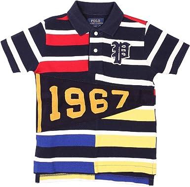 7 Polo Ralph Lauren Boys/' Cotton Mesh Polo Shirt Little Kid Size