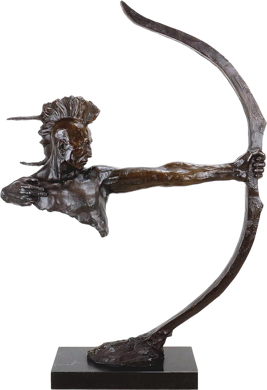 Limit limitada indios Escultura–Indios con arco–punky–Western Estatua–Indios Bronce–guerrero Sign. REMINGTON–Esculturas Online comprar