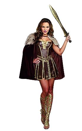 Dreamgirl Womenu0027s Victorious Beauty Warrior Costume Brown Small  sc 1 st  Amazon.com & Amazon.com: Dreamgirl Womenu0027s Victorious Beauty Warrior Costume ...