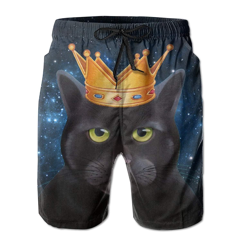Wearing A Crown of The Cat Swim Clothing Mens Trunks Beach Shorts RTXCKJ Trunks