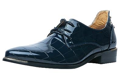 Santimon Schuhe Herren Derby Schnurhalbschuhe Hochzeitsschuhe Lack