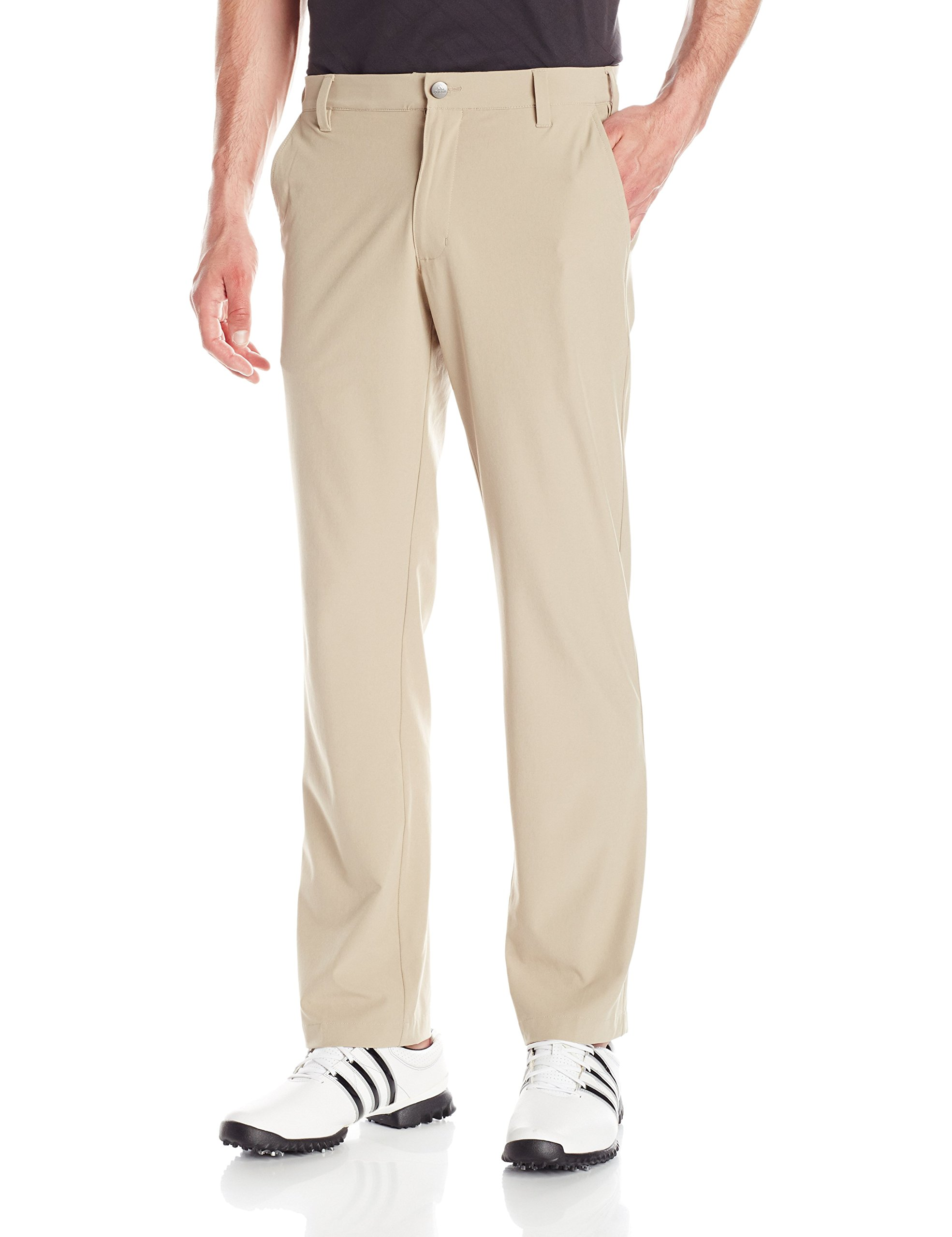 adidas Golf Men's Ultimate Regular Fit Pants, Khaki, Size 34/30 by adidas
