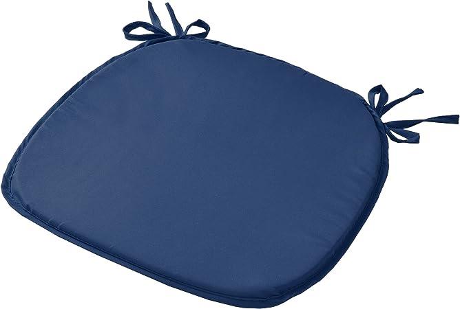 38x38x1,5 cm Vanille Unie Coussins Confortable Color/é Beautissu Lot de 4 galettes de chaises Lara