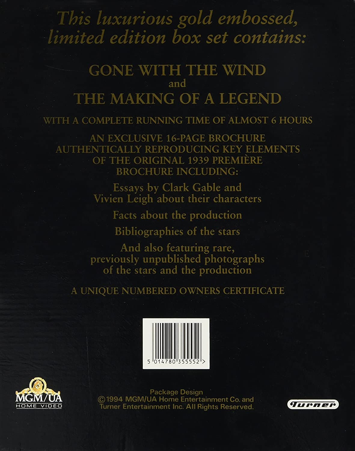 Amazoncom Gone With The Wind Vhs Clark Gable Vivien Leigh  Amazoncom Gone With The Wind Vhs Clark Gable Vivien Leigh Thomas  Mitchell Barbara Oneil Evelyn Keyes Ann Rutherford George Reeves Fred  Crane