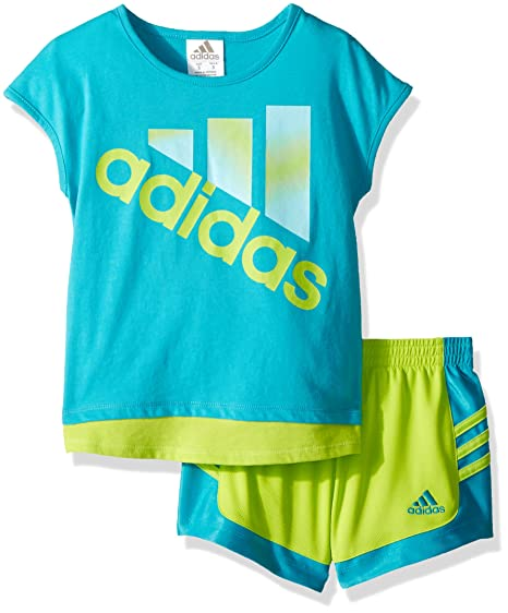 12eede85ae8a1 Amazon.com: adidas Girls' Top and Short Set: Clothing