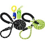haapaw Slip Lead Dog Leash with Comfortable Padded Handle Reflective, Mountain Climbing Rope Dog Training Leashes for…