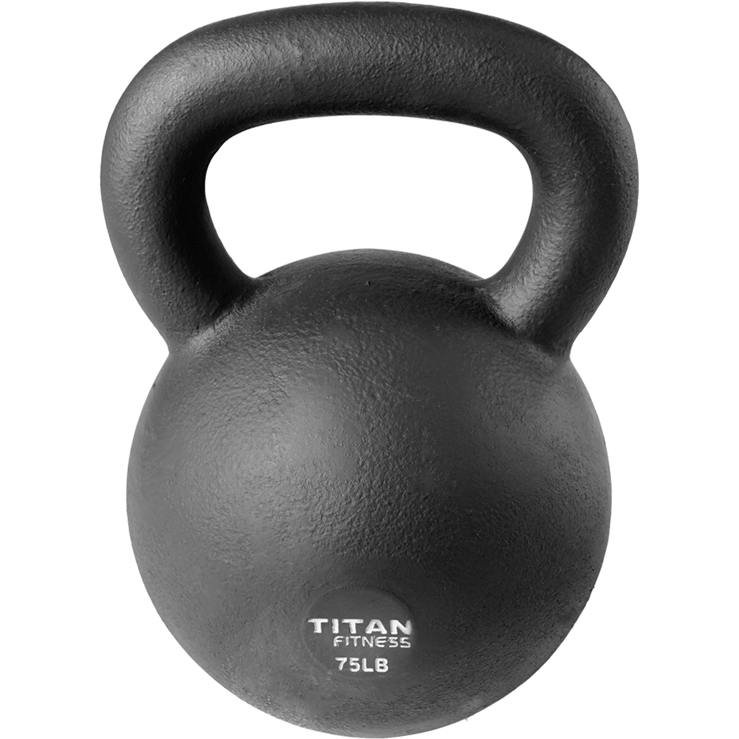 Cast Iron Kettlebell Weight 75 lb Natural Solid Titan Fitness Workout Swing by Titan Fitness (Image #2)