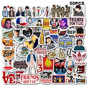 Stranger Things Movie Stickers Laptop Sticker Computer Bedroom Wardrobe Car  Skateboard Motorcycle Bicycle Mobile Phone Luggage Guitar DIY Decal for ...