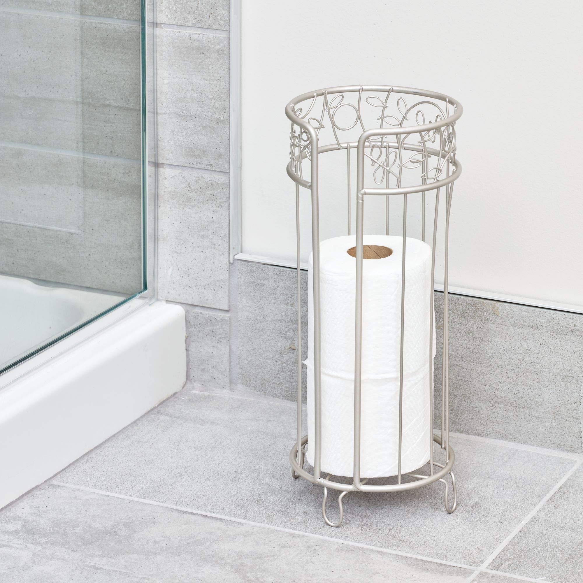 InterDesign Twigz Free Standing Toilet Paper Holder, Spare Roll Bathroom Storage Satin by InterDesign (Image #2)