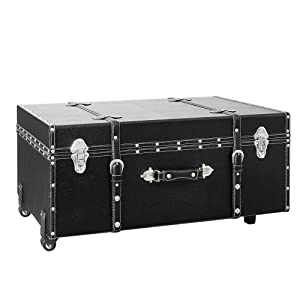 DormCo The Designer Wheeled Trunk - Black - Large