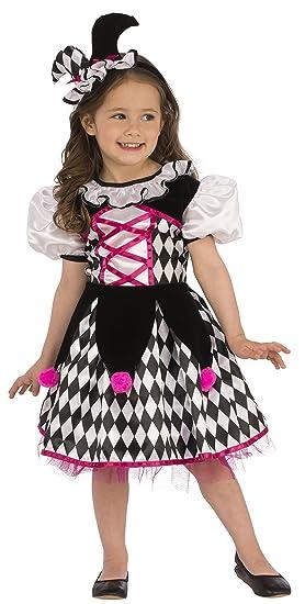 Halloween Clown Girl Outfit.Amazon Com Rubies Black White Jester Clown Girls Costume