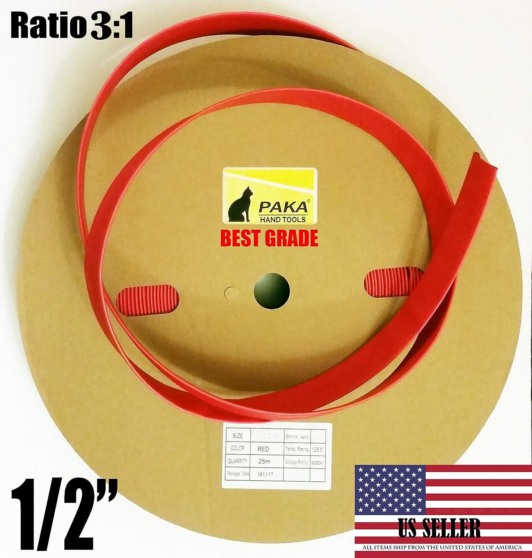 PAKA HAND TOOLS 1//2 Dual Wall Red Heat Shrink Tubing 3:1 Adhesive Glue Lined Tube 10 FEET