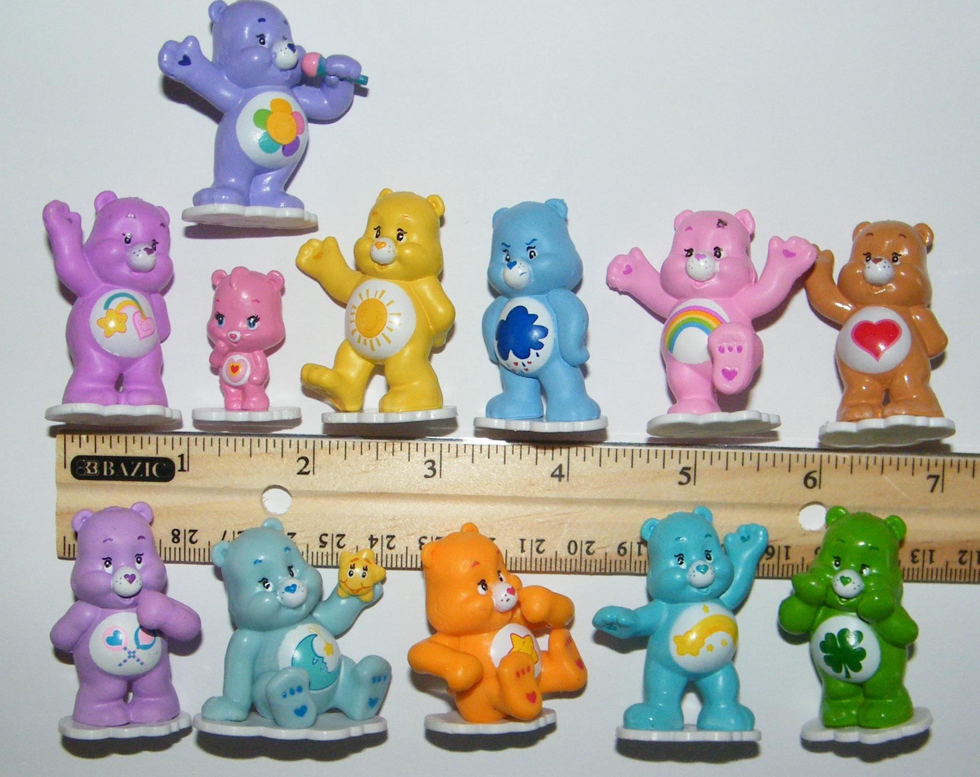 Care Bears Cupcake Topper Birthday Party Decorations Set of 12 Figures with Share Bear, Wonderheart Bear, Grumpy Bear, Wish Bear and Many More! by Care Bears (Image #4)